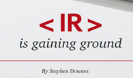 IR is gaining ground